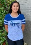 Kansas City Royals Womens Space Dye T-Shirt - Blue