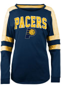 Indiana Pacers Womens Athletic T-Shirt - Navy Blue