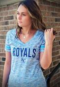 Kansas City Royals Womens Novelty T-Shirt - Blue
