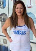 Texas Rangers Womens Pinstripe Tank Top - White