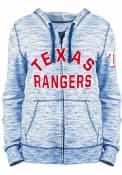 Texas Rangers Womens Space Dye Full Zip Jacket - Blue