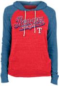 Texas Rangers Womens Contrast Hooded Sweatshirt - Red