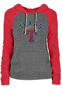 Texas Rangers Womens Contrast Hooded Sweatshirt - Grey