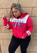 Texas Rangers Womens Triblend Hooded Sweatshirt - Red