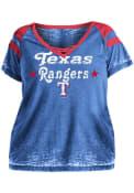 Texas Rangers Womens Burnout T-Shirt - Blue