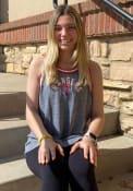 Texas Rangers Womens Flocked Tri-Blend Tank Top - Grey