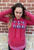 Texas Rangers Womens Burnout Wash Hooded Sweatshirt - Red