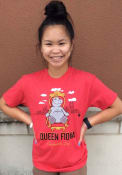 Fiona the Hippo Heather Red Queen Throne Short Sleeve T-Shirt
