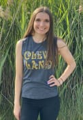Cleveland Women's Navy Hippie Floral Muscle Tank Top