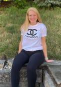 Chicago Women's City Wordmark Unisex Short Sleeve T-Shirt - White
