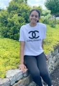 Cincinnati Women's City Wordmark Unisex Short Sleeve T-Shirt - White