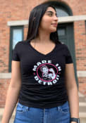 Made In Detroit Womens Black Made In Short Sleeve T Shirt