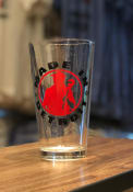 Detroit Made in Detroit Red/Black Pint Glass Pint Glass