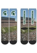 Michigan State Spartans Arena Crew Socks - Green