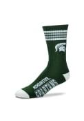 Michigan State Spartans Duece Four Stripe Crew Socks - Green