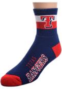 Texas Rangers La Raya Quarter Socks - Blue