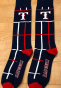 Texas Rangers Mens Blue Square Stripe Dress Socks