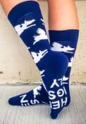 Cincinnati Mens Navy Blue When Pigs Fly Dress Socks