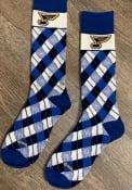 St Louis Blues Plaid Argyle Socks - Blue