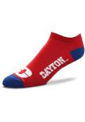 Dayton Flyers Team Color No Show Socks - Red
