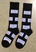 Chicago Mens Black Allover Dress Socks