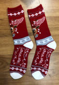 Detroit Red Wings 2019 Ugly Sweater Crew Socks - Red