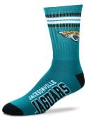 Jacksonville Jaguars 4 Stripe Deuce Crew Socks - Blue
