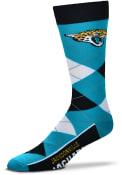 Jacksonville Jaguars Team Logo Argyle Socks - Blue