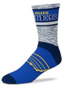St Louis Blues Double Duece Crew Socks - Blue