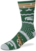 Michigan State Spartans Holiday Cheer Crew Socks - Green
