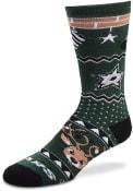 Dallas Stars Holiday Cheer Crew Socks - Green