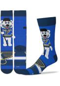 St Louis Blues Madness Crew Socks - Blue