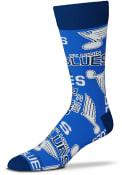 St Louis Blues Wall to Wall Dress Socks - Blue