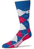 Dayton Flyers Team Logo Argyle Socks - Red