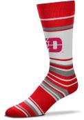 Dayton Flyers Mas Stripe Dress Socks - Red