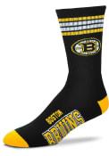Boston Bruins 4 Stripe Deuce Crew Socks - Black