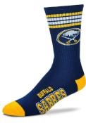 Buffalo Sabres 4 Stripe Deuce Crew Socks - Navy Blue