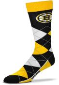 Boston Bruins Team Logo Argyle Socks - Black