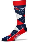Washington Capitals Team Logo Argyle Socks - Grey