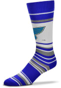 St Louis Blues Mas Stripe Dress Socks - Blue