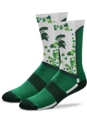 Michigan State Spartans St Pattys Day Crew Socks - Green