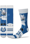 Indianapolis Colts Youth Madness Crew Socks - Blue