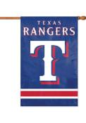 Texas Rangers 28x44 Blue Applique Sleeve Banner