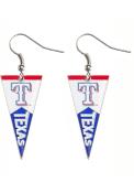 Texas Rangers Womens Pennant Earrings - Silver