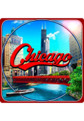 Chicago Coaster Magnet