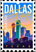 Dallas Ft Worth Acrylic Keychain Keychain
