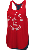 St Louis Cardinals Womens Equalizer Tank Top - Red