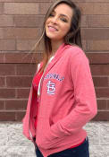 St Louis Cardinals Womens Training Camp Zip Full Zip Jacket - Red