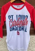 St Louis Cardinals Womens Tailgate Raglan T-Shirt - White