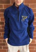 St Louis Blues Centerfield 1/4 Zip Pullover - Blue